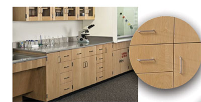 closeup of wood cabinet styles