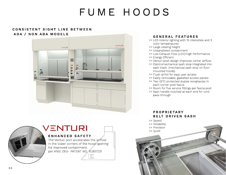fume hood page from look book