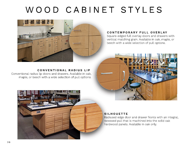 Image from lookbook of wood cabinet styles