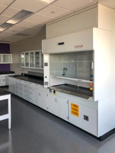 lab casework and fume hood